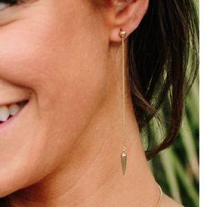 """3"""" spike drop earrings"""